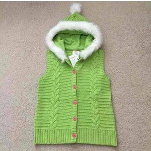 New Gymboree fur vest